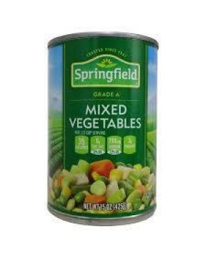 Springfield Mixed Vegetables 15 Oz. Can
