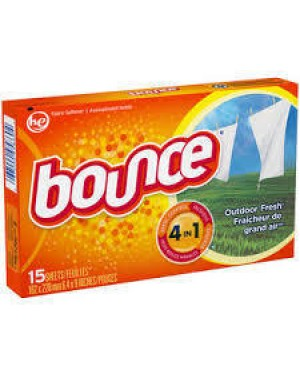 BOUNCE DRYER SHEETS 15 CT OUTDOOR FRESH