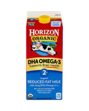 Horizon Organic Milk  2% 0.5G