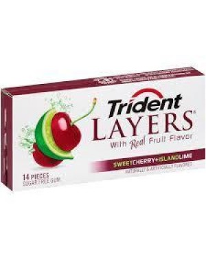 Trident Layers Cherry Lime 14 Pcs
