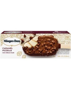 Haagen Dazs Carmel Pizzelle Ice Cream Bar 3oz