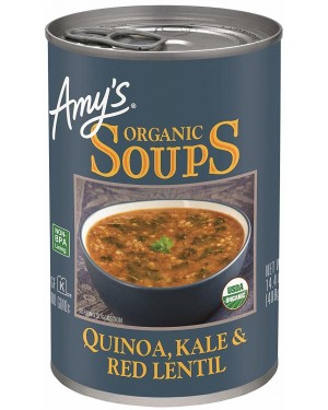 Amy`s Soups Quinoa Kale & Red Lentil 14.4oz