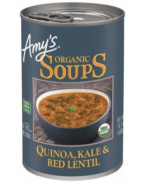 Amy`s Soups Quinoa Kale & Red Lentil 14.4oz
