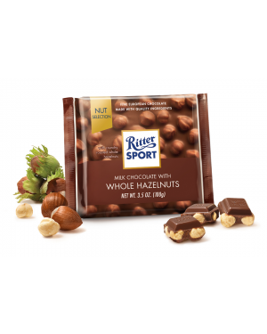 Ritter Sport Milk Chocolate Whole Hazelnuts 3.5oz