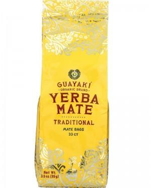 Guayaki Yerba Mate Traditional Tea Bags 33ct