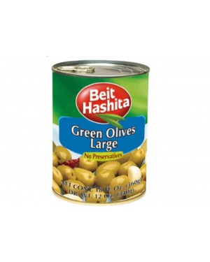 Beit Hashita Green Olives Large KOSHER 18 oz