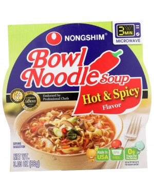 Nongshim Hot & Spicy Bowl Noodle 3.03oz