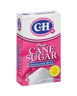 C&H GRANULATED SUGAR 1LB