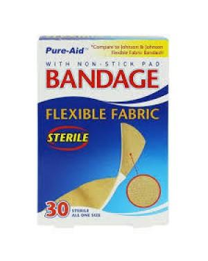 PURE-AID BANDAGE FLEXIBLE FABRIC 30CT