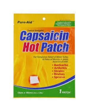 PURE-AID CAPSAICIN HOT PATCH 1 CT
