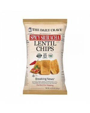 The Daily Crave Lentil Chips Spicy Sriracha 4.25oz