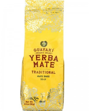 Guayaki Yerba Mate Traditional Tea Bags 33ct