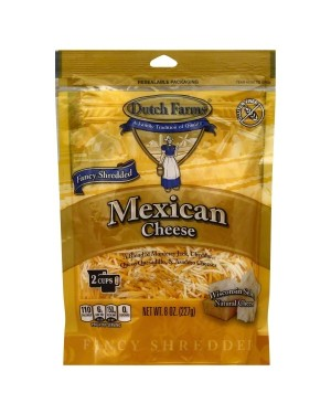 Dutch Farms Fancy Shredded Mexican Blend Cheese 8Oz