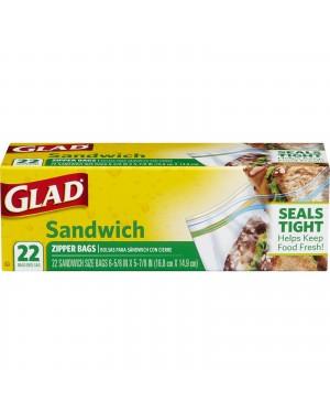 Glad Sandwich Zipper Bags (22ct)