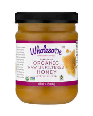 Wholesome Organic Raw Unfiltered Honey 16oz