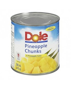DOLE PINEAPPLE CHUNKS IN JUICE 20 OZ